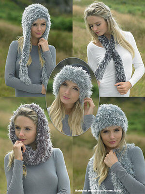 Faux Fur Scarf and hat Knit Kit