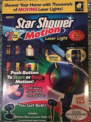 Star Shower Motion Outdoor Indoor Laser Christmas Lights Projector AS SEEN ON TV