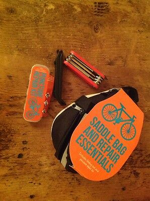 New Saddle Bag Including Repair Essentials: puncture kit, tyre levers multitool