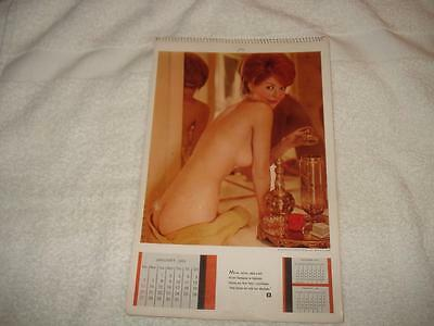 Vintage 1963 Playboy Wall Calendar 6Th Issue Christa Speck ! Rare !! Must See !