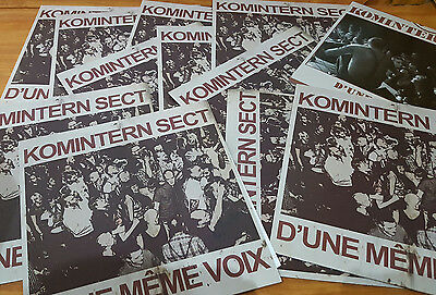 Komintern Sect  D'Une Même Voix (red) french punk oi! cock sparrer,perkele,skins