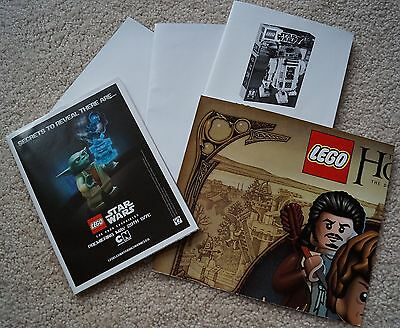 New LEGO lot of 5 Posters HOBBIT STAR WARS Lego Movie