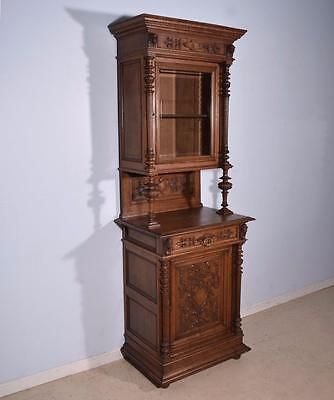 *French Antique Renaissance Revival Bookcase/Buffet/Display Cabinet in Oak