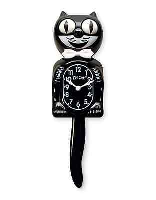 """Classic Black Kit-Cat Clock (15.5"""" high) New In The Box-FREE BATTERIES INCLUDED"""
