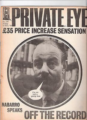 Private Eye Mag # 187 14 February 1969 Sir Gerald Nabarro MP Kidderminster cover