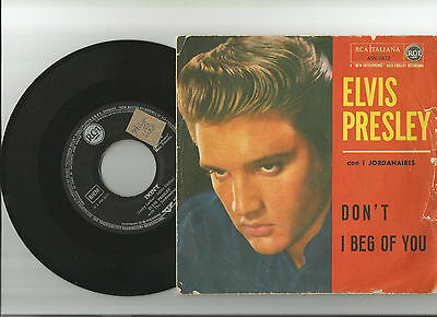 Elvis Presley: Don't Rare 1958 With Cover Italy And Record Germany