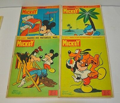 Lot De 4 Journal De Mickey  N°595 - 596 - 597 - 598