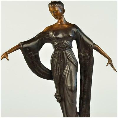 Hollywood Actress Greta Garbo The Black Pirate Spelter Bronze Deco Style Art