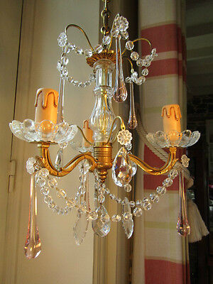 A Stunning Vintage, Crystal,  French Drop Chandelier