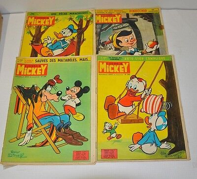 Lot De 4 Journal De Mickey  N°596 - 599 - 600 - 601