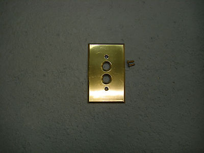 Vintage Brass Push Button Switch Plate