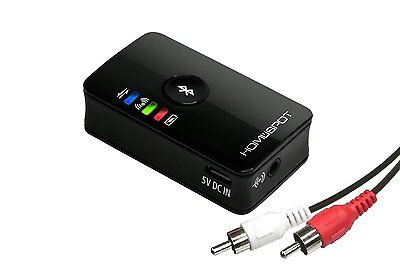 HomeSpot Dual Stream Wireless Portable Bluetooth Audio Transmitter for TV with