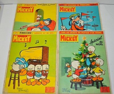 Lot De 4 Journal De Mickey  N° 606 - 607 - 608 - 609