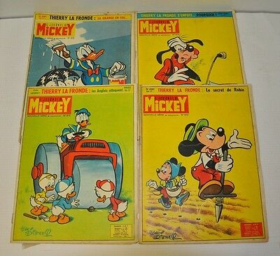 Lot De 4 Journal De Mickey  N° 612 - 613 - 614 -615