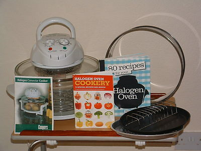 halogen oven with accesory pack and cook books