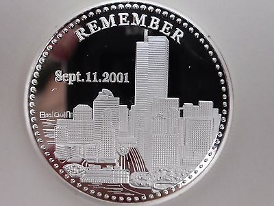Twin Towers 9-11 Commemorative Silver Plated Coin