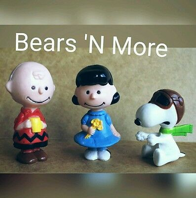 Peanuts  Snoopy, Charlie Brown & Lucy Figurines