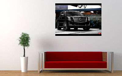 """2015 BLACK CADILLAC ESCALADE LARGE ART PRINT POSTER PICTURE WALL 33.1""""x23.4"""""""