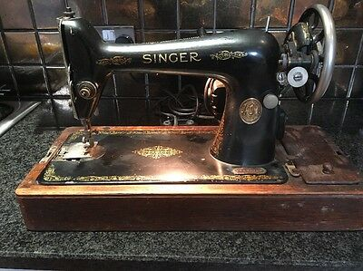 Vintage Singer Sewing Machine 1925, Model 66k, With Electric Pedal - Working