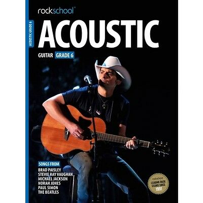 Rockschool Acoustic Guitar Grade 6 TAB Music Book with Audio Access Tests Exams