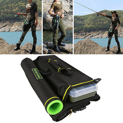 Fishing Tackle Lure Rod Storage Bag Multi-Purpose Tactical Thigh Waist Hip Pack
