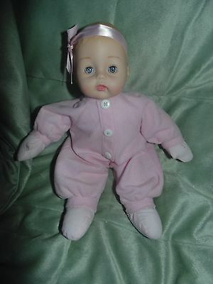 """Madame Alexander Huggums 12"""" First Baby Doll VERY Gently Used Pretty in Pink"""