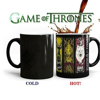 Game Ceramic of Thrones Heat Sensitive Color Changing Coffee Tea Mug Gift New UK