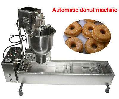 Commercial Automatic Donut Maker Making Machine, Wider Oil Tank, 3 Sets Molds US