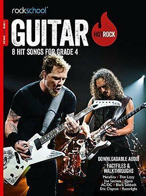 Rockschool Guitar Hot Rock Grade 4 TAB Music Book & Audio Exams Tests Metallica