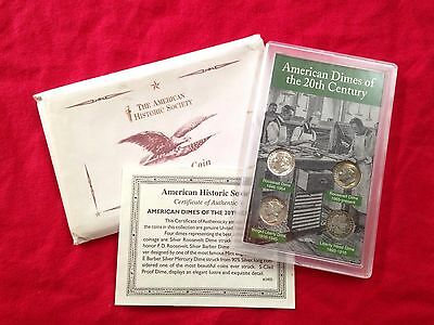 The American Historic Society American Dimes Of The 20th Century Coin Set