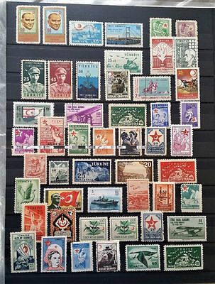 Turkey Small Unmounted Mint Collection, Fresh Clean.Lot 2