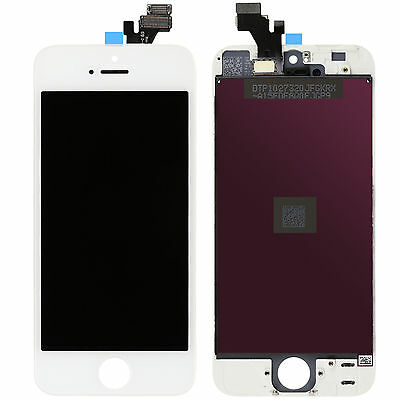 Touch Screen + Lcd Display Retina +Frame Per Apple Iphone 5 Bianco Vetro Schermo
