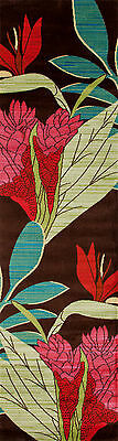 """2x8 (2'2"""" x 8'1"""") Runner Tropical Palm Coastal Floral Area Rug **FREE SHIPPING**"""