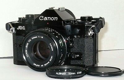 Canon A-1 35mm SLR Film Camera with 50 mm 1.8 lens Kit