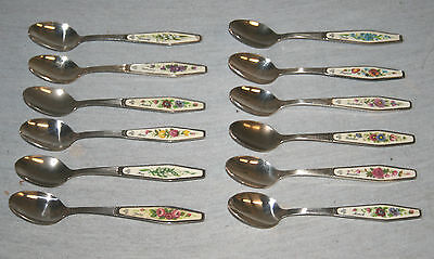 Royal Albert ' Flower Of The Month ' Silver Plated Tea / Coffee Spoons