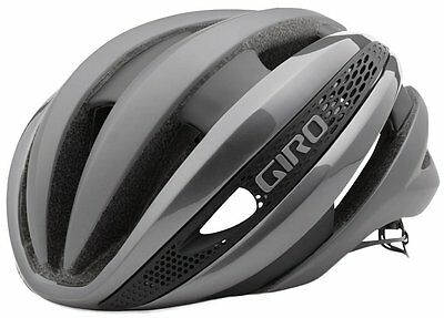 NEW Giro Synthe Cycling Bicycle Helmet, Matte Titanium/Silver, Medium