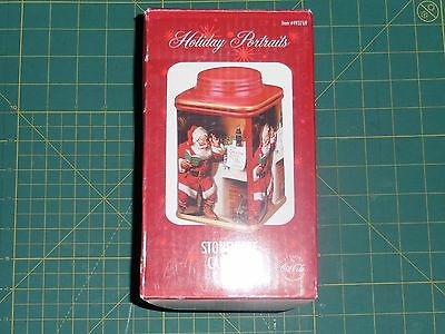 COCA-COLA Holiday Portaits Stoneware Canister - 2002 (Jimmy's Letter) : NEW