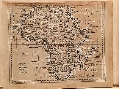 1787 Africa Original Antique Map By Thomas Kitchin 229 Years Old