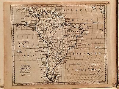 1787 South America Original Antique Map By Thomas Kitchin 229 Years Old