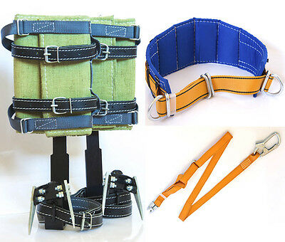 Tree Climbing Spikes Wide Belt & Adjustable Lanyard