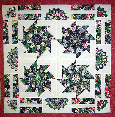 Quilt Top-Kaleidoscope--Pin Wheel--Saw Blade--Ready to Quilt
