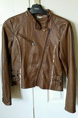 Girls Next Faux Learther Biker Jacket size 13-14 yrs