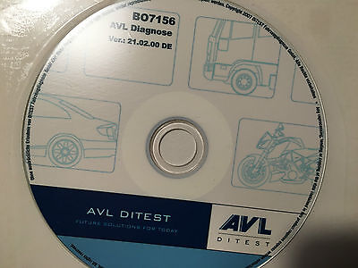 AVL DIX 105 KFZ  Diagnose USB Dongle und Software Ditest SW Stand 2012