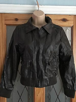 Y.D Girls Kids Children Faux Leather Look Jacket Brown 11-12 Years 152cm
