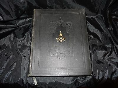 Vintage Large 1942 Hertel Edition Mason Masonic Table or Family Bible