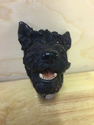 Vintage Bossons Scottish Terrier Dog Head 1969