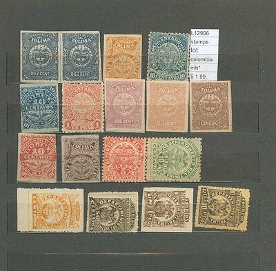 Stamps Lot Colombia   Mh*  (L12906)