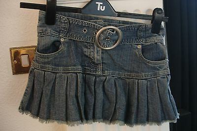 Girls Denim Skirt with Pleats and Large Belt from Sophie aged 9-10 years