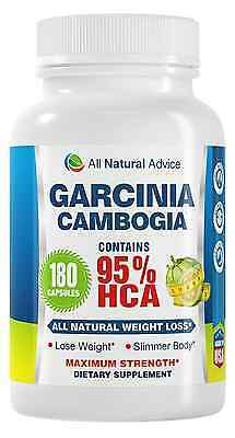All Natural Advice Garcinia Cambogia Extract with Pure 95% HCA 180 Capsules with