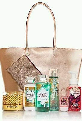 BATH & BODY WORKS 2016 VIP BLACK FRIDAY TOTE Magic in Air 1000 Wishes Rose GOLD